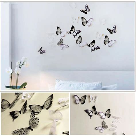 white butterfly wall stickers popular butterfly white buy cheap butterfly white lots from china butterfly white suppliers on