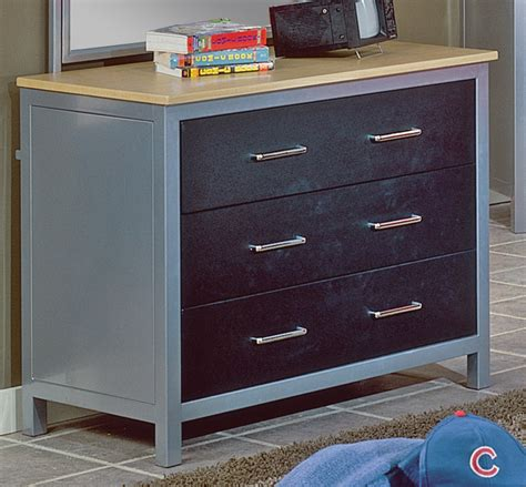 homelegance lucas metal dresser 812bk 5 homelement com