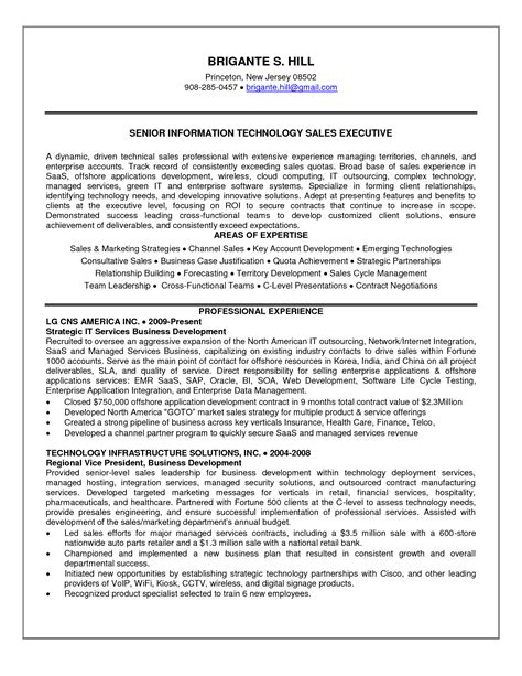 hr executive resume sles 28 images resume sle 11