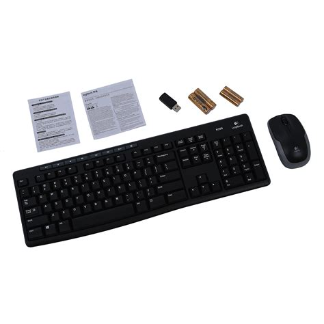 Keyboard Logitech Mk260 logitech mk260 pack wireless keyboard and mouse black
