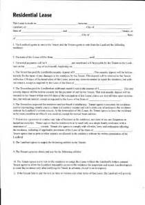 residential lease free printable documents