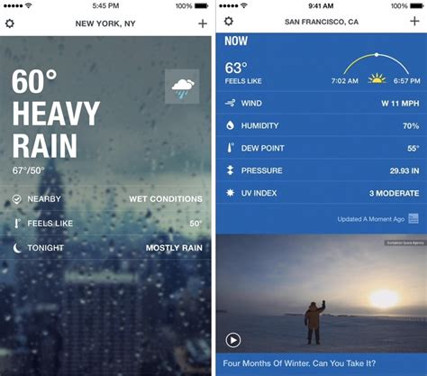 the weather channel mobile the weather channel app for iphone gains reved design