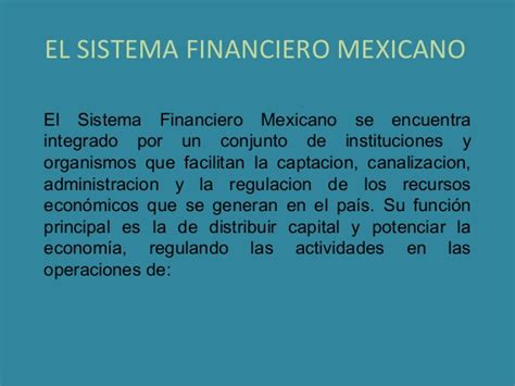 sistema financiero mexicano youtube el sistema financiero mexicano