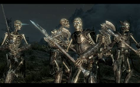 skyrim male skeleton armored skeletons and the walking dead traduzione