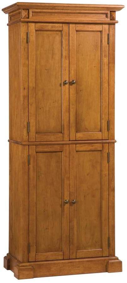 americana warm oak pantry home styles pantry cabinet