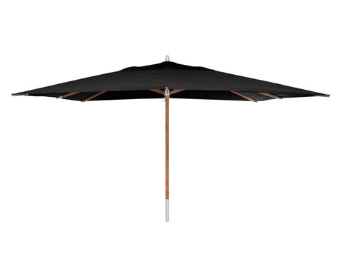 Black Fabric Umbrella With Carbonized Mahogany Wood Base Black Patio Umbrellas