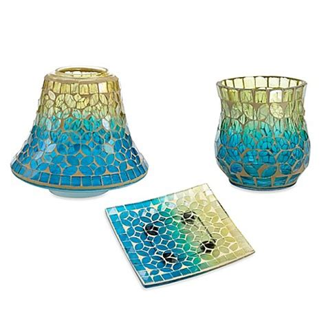 bathroom candles and accessories yankee candle 174 paradise mosaic candle accessories bed bath beyond