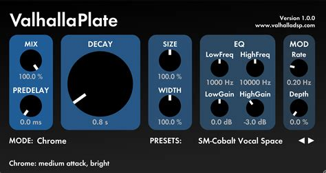 Valhalla Room Reverb Review by A Review Of The Valhalla Dsp Valhallaplate Reverb In