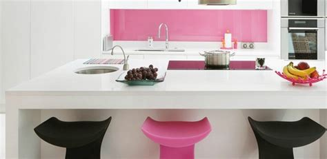 contemporary pink kitchen with an appealing design
