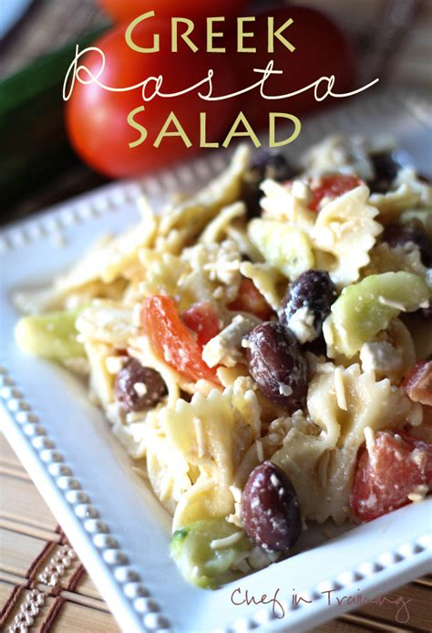 easy and delicious pasta salad fun fit and fabulous greek pasta salad chef in training