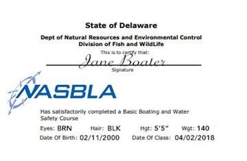 delaware boat registration numbers delaware boating license boat safety course boat ed 174