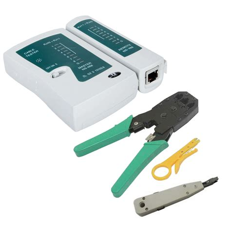 network tool rj45 rj11 cat5 cable crimper tools lan cable tester punch