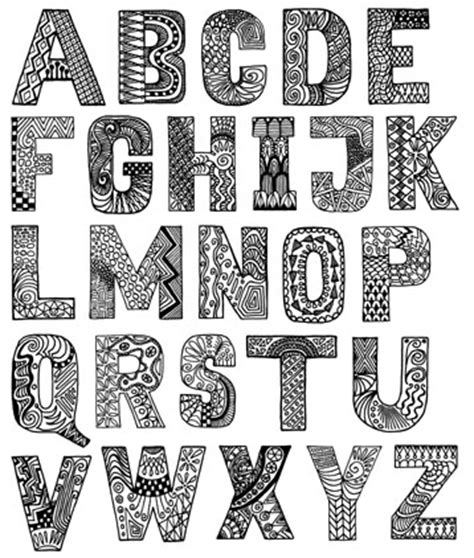 how to do doodle lettering alphabets