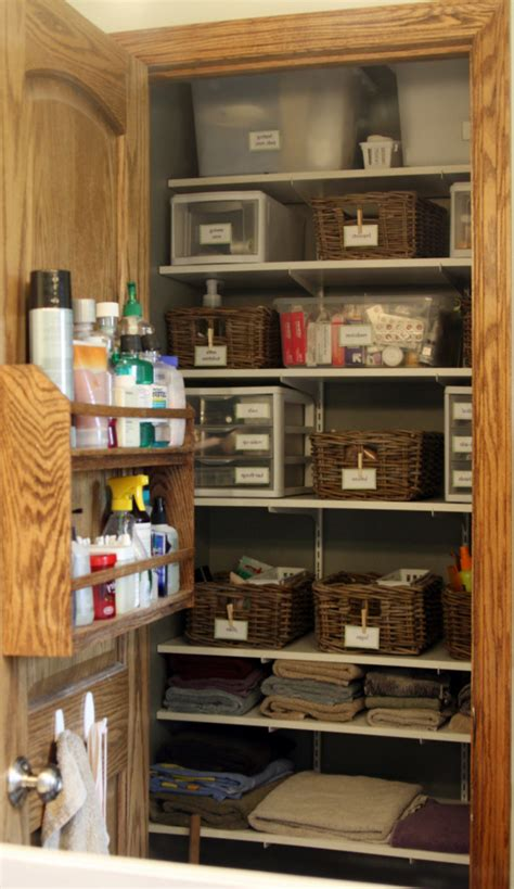 bathroom closet storage ideas iheart organizing 2012 03 25