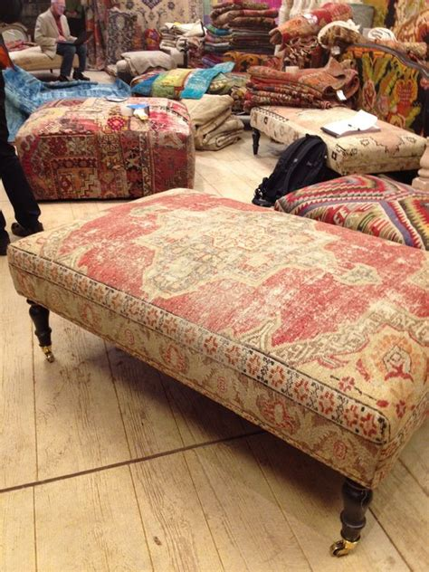 rug ottomans rug covered ottomans for the of furniture beautiful to die for and ottomans