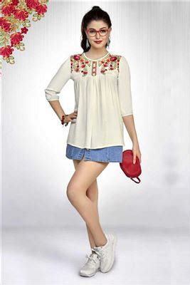 designer and luxury womens wear daily girls designer party and daily wear short tops catalog