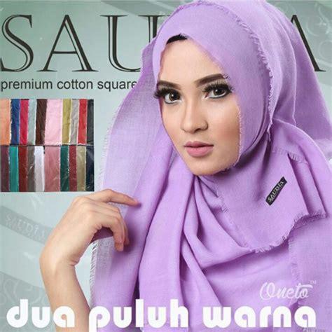 Kerudung Square Katun Rawis jual harga jilbab kerudung saudia ssegiempat