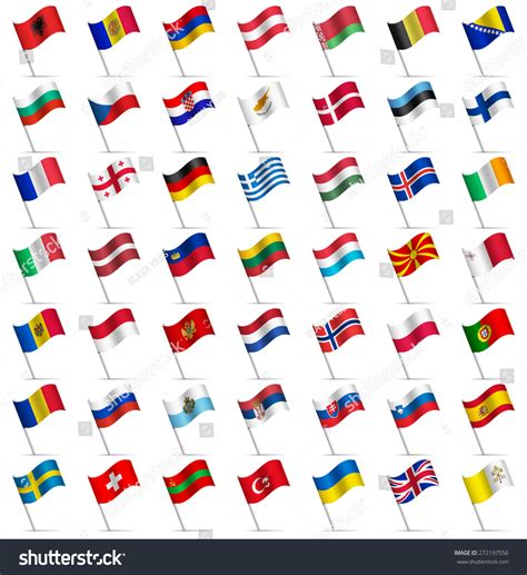 flags of the world waving waving flags of the world part 2 6 europe stock vector