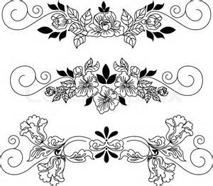 Send Flowers By Mail - tegning blomster vignet vektor colourbox