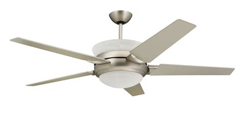 troposair 56 in satin steel ceiling fan with up