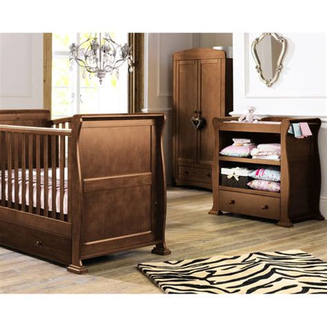Sleigh Nursery Furniture Set Sleigh Furniture Set In Finish Babies R Us