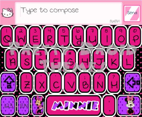 themes android minnie mouse pretty droid themes minnie mouse smart keyboard theme for
