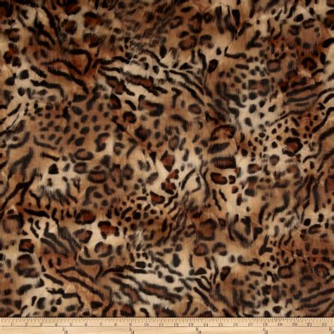 leopard fabric faux fur hi low leopard fur gold black discount designer