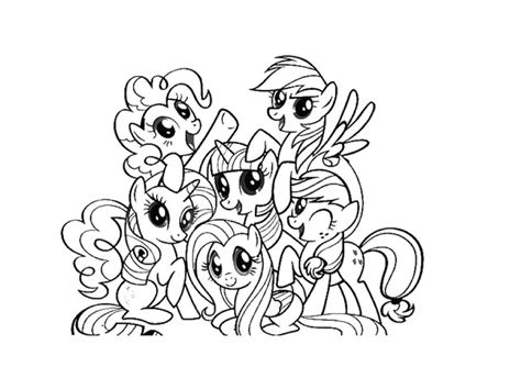 my little pony group coloring pages my little pony friendship is magic coloring pages online