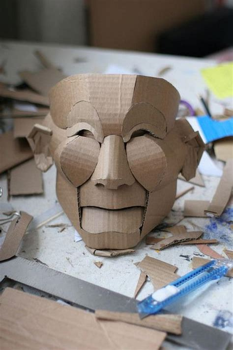 How To Make A 3d Mask Out Of Paper - 20 diy mask crafts for sponge