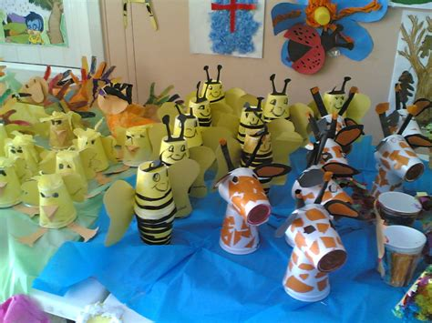 Paper Cup Animals Craft - preschool crafts and worksheets