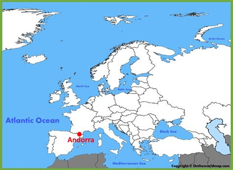 where is andorra on the map andorra location on the europe map