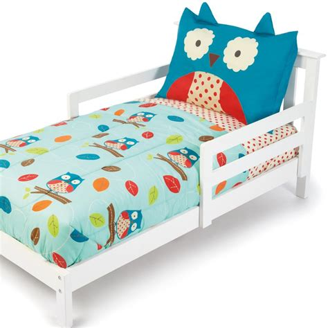 toddler bed quilt amazon com skip hop 4 piece toddler bedding set owl toddler sheet sets baby