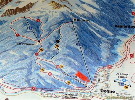 Overall Allera cogne gran paradiso trail map piste map panoramic
