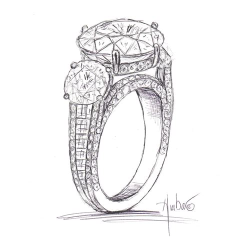 ring engagement ring pencil and in color