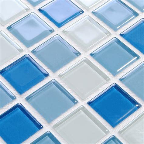 Glass Subway Tile Backsplash wholesale glass mosaic for swimming pool tile blue white
