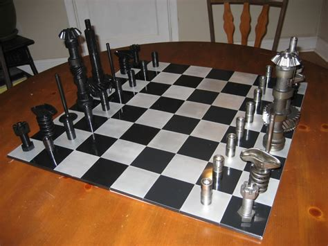 diy chess set high octane chess set made from car parts hacked gadgets