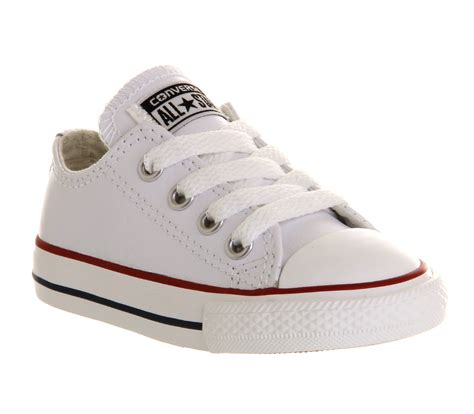 childrens converse sneakers converse all low infant shoes optical white