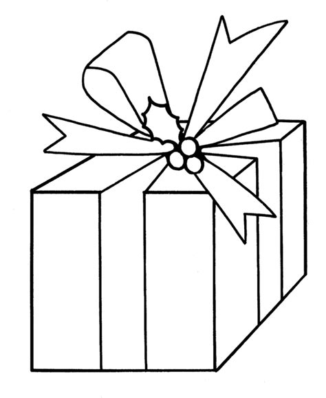Printable Coloring Pages Of Presents L