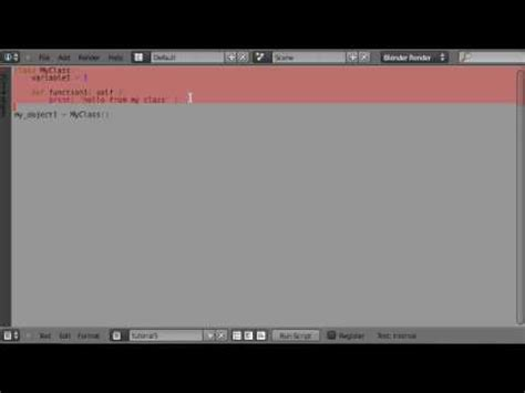tutorial blender python tob s blender python tutorial 105 classes and objects 1 2