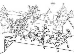 printable pictures of santa and his reindeer search