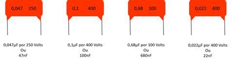 capacitor 104 que valor es capacitores c 243 digo num 233 vandertronic