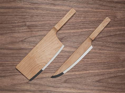 Ceramic Kitchen Knives Set by Maple Wood Knives By The Federal Inc