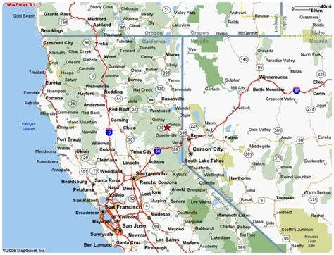 a map of cities northern california map with cities california map