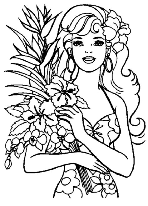Barbie Princess Coloring Pages To Print High Quality High Quality Coloring Pages