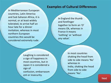 cultural themes exles cultural awareness