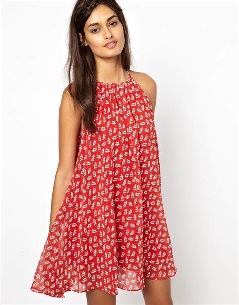 red swing dresses lyst jarlo swing dress in red