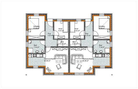 Grundriss Doppelhaus Ebenerdig by Bungalow Typ Findus Doppelbungalow Schl 252 Sselfertig Bauen