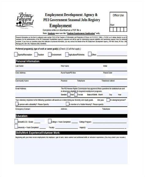 registration forms student registration form sle