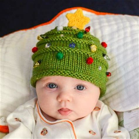 Free Knitting Pattern Baby Christmas Tree Hat | free christmas knitting patterns for babies handylittleme