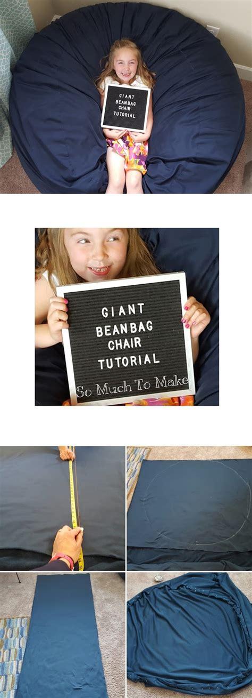 make bean bag couch giant bean bag chair tutorial so much to make